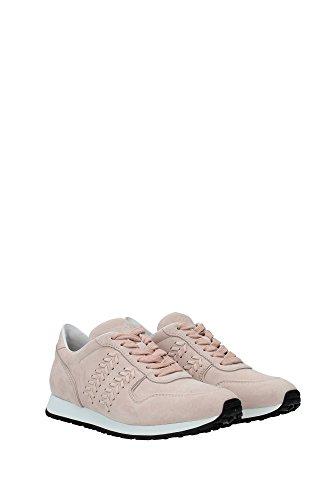 XXW0YO0P670CKOM400 Tod's Sneakers Femme Chamois Rose Rose