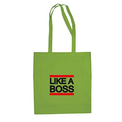 Like a Boss - Stofftasche / Beutel Hellgrün