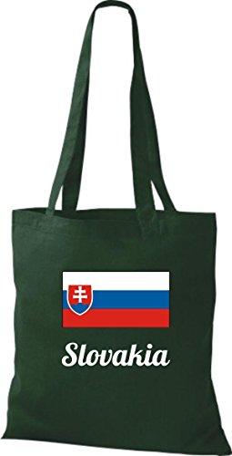 Camicia In Tessuto Borsa In Cotone Borsa Country Iuta Slovacchia Slovacca Colore Rosa Verde