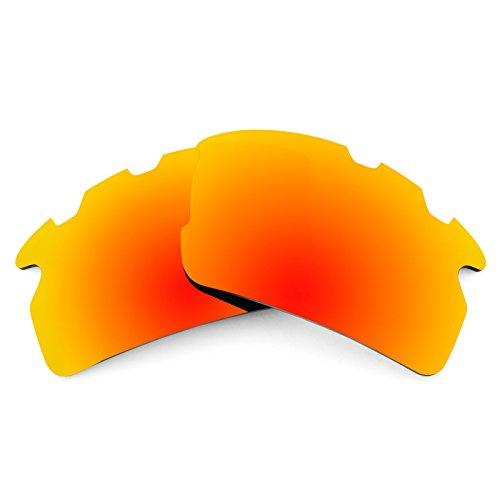 Revant Ersatzlinsen für Oakley Flak 2.0 Vented Polarisierung Elite Feuerrot MirrorShield®