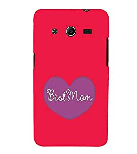 For Samsung Galaxy Core 2 G355H :: Samsung Galaxy Core II :: Samsung Galaxy Core 2 Dual best mom ( best mom, good quotes, nice quotes, purple heart, red background ) Printed Designer Back Case Cover By CHAPLOOS