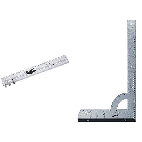 Wolfcraft 4650000 - Listón de tacos (ce) ø 5, 6, 8, 10 mm para ensamblajes + 5206000 - Escuadra Universal 280X500 mm