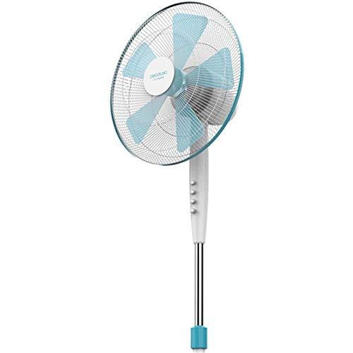 Cecotec Ventilador de Pie ForceSilence 500. 5 Aspas, Oscilante, 3 Velocidades, Ajustable(115-135cm),...