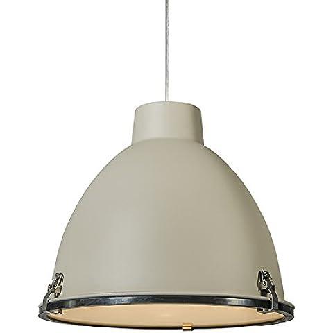 QAZQA Industrial, Moderno Lámpara colgante ANTEROS 38 color hormigón, Vidrio, Metal, Redonda / Adecuado para LED E27 Max. 1 x 60 Watt