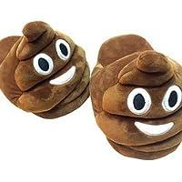 Preisvergleich für Unisex 'Poo' Emoji Hausschuhe - Jetzt können Sie Ihre Lieblings-Emoji auf den Füßen tragen! Schuhgröße groß
