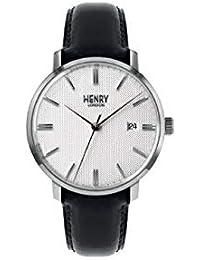 Henry London Reloj Análogo clásico para Unisex Adultos de Cuarzo con Correa en Cuero ...