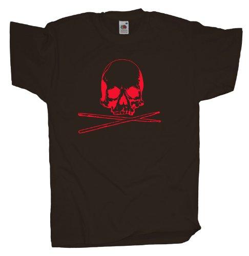 Ma2ca - Drummer Skull - T-Shirt Chocolate