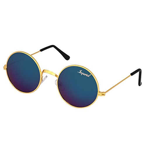 Imperial Club Round Unisex Sunglasses(Wy037|40|Blue)