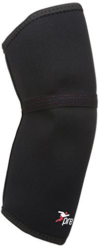 Precision Training Neoprene Elbow Support - Black/Red, Medium by Precision Training