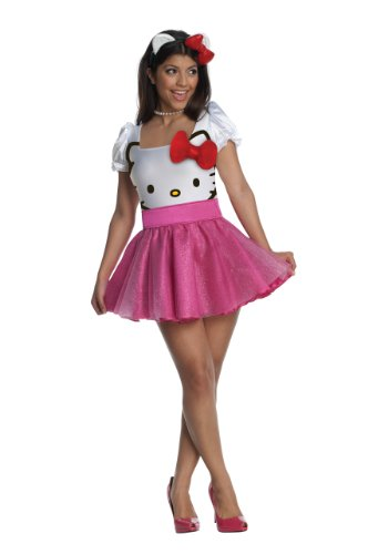 Pinky Hello Kitty Kostüm für Damen-XS (Kitty Hello Halloween Kostüm)
