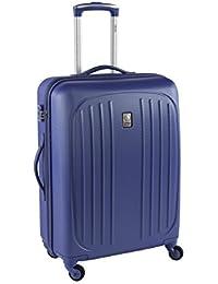 Delsey-Valise Trolley Hydre Bleu Rigide-76 cm