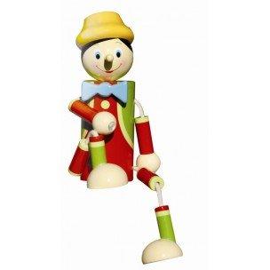 Tirelire pantin en bois - Pinocchio - Le coin des enfants - 18185