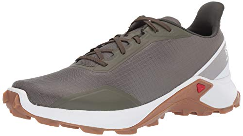 Salomon ALPHACROSS, Zapatillas de Trail Running para Hombre, Verde (Grape Leaf/White/Gum1a), 40 2/3 EU