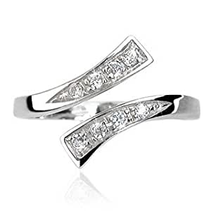 Contempary Silver Cystal Toe Ring