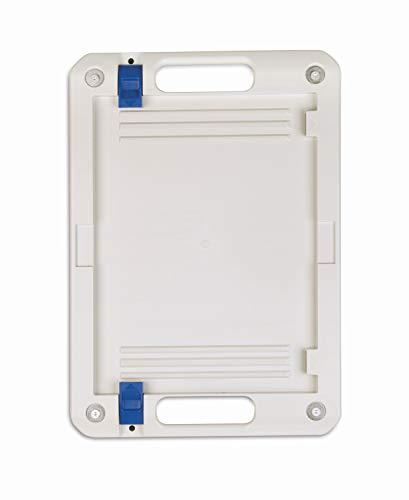 TANOS Wandhalterung SYS-CART BASE, lichtgrau/blau, Tragkraft bis zu 100kg -