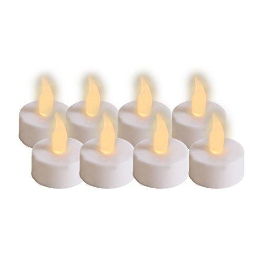 juego de 8 velas de té, LED con pilas de repuesto 94 IOIO LED