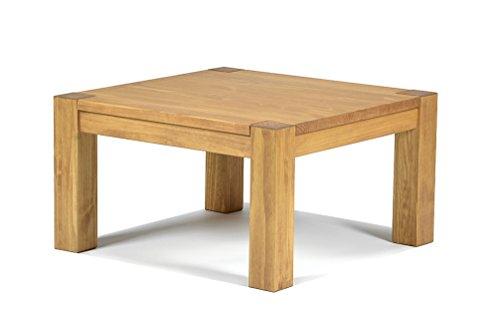 Naturholzmöbel Seidel Couchtisch, Beistelltisch,Rio Bonito, 80x80cm Höhe 70cm, Pinie Massivholz, geölt und gewachst, Wohnzimmer Tisch Farbton Honig hell