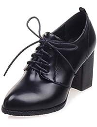 d5373c869c9a5 Mujer Oxford Zapatos Tacones Comodidad Oficina señora Gruesos Tacones  maduran Acentuado del Dedo del pie Bombas