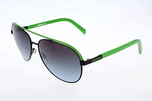 Just Cavalli Unisex Sonnenbrille JC654S, Grau (Black/Green), One size