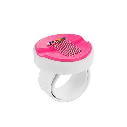magnetisch Nähen Nadelkissen Handgelenk Pin Halterung Nähnadel Aufbewahrungsbox Nähen Zubehör Werkzeug für Stickerei Stopfen, rosa (Pin Handgelenk Halterung)