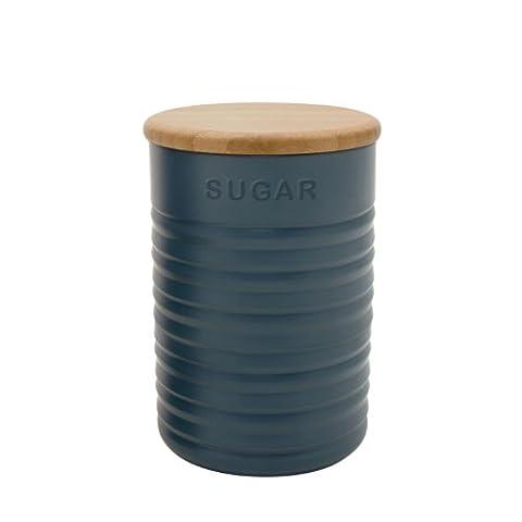 Typhoon Ripple Slate Sugar Canister, Dark Grey