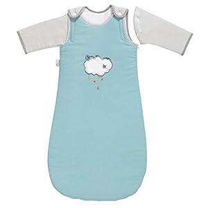 P 'tit Basile – Saco de dormir de invierno para bebé niño, 6-24 meses – 90 cm – con mangas largas extraibles removibles desmontables, algodón orgánico, TOG 2,5 Savane en folie