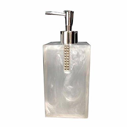 ZHIHUI Grand distributeur de savon Résine Rectangle Hand Sanitizer Bouteille pour Hotel Club Salle de bains, 500ML , White