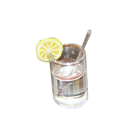 Vektenxi Premium Qualität Miniatur Puppenhaus Fee Garten Simulation Glas Limonade Kinder Spielzeug Zufällige Farbe (Miniatur-limonade)