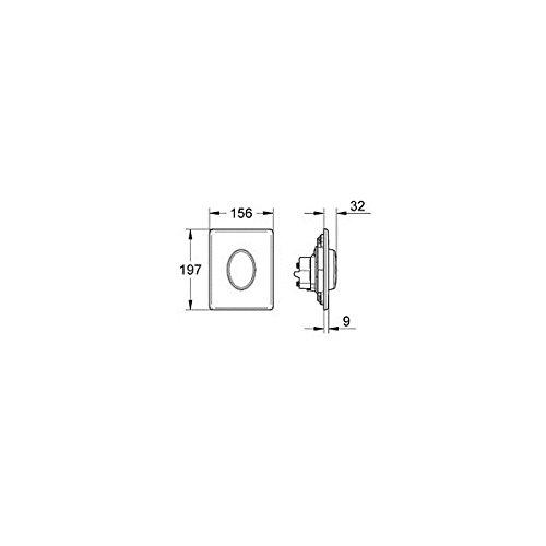 Grohe Abdeckplatte Skate Air aus ABS 156 x 197 mm, Montage, weiß, 38564SH0