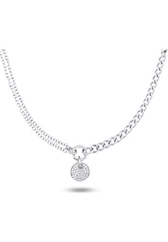 JETTE Silver Damen-Creole 925er Silber 26 Zirkonia One Size 86735482 Schmuck