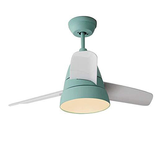 CJDQ Ventilator Licht, Einfache Wohnzimmer Deckenventilator Licht Kinderzimmer LED Stumm Ventilator Licht, Kreative Schlafzimmer Wohnzimmer Esszimmer Eisen Handwerk Dekorative Fan Licht YZRCRK -