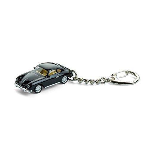 Llavero con coche en miniatura, Porsche 356 A schwarz, 1:87