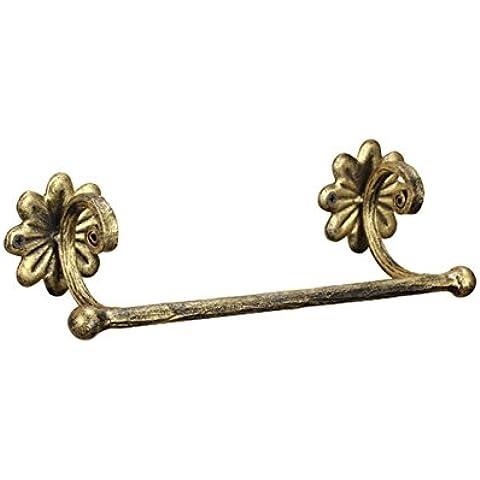 sbwylt-classical imitación bronce hierro forjado toalla bares, corto 40cm sola barra toallero
