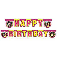 "Procos 86564 – Guirnalda""Happy Birthday"" Masha y el Oso, 2,4 m, multicolor"