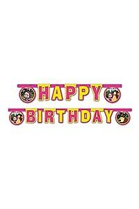 """Procos 86564-Guirnalda""""Happy Birthday"""" Masha y el Oso, 2,4m, multicolor"""