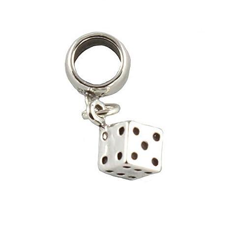 Sterling Silber Lucky Dice, Die Dangle Bead/Charm, Für Europäische Armbänder