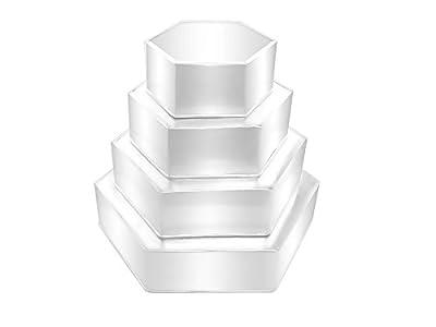 "4 Tier Hexagon Multilayer Birthday Wedding Anniversary Cake Tins / Pans 6"" 8"" 10"" 12"""