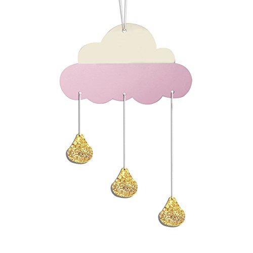 Homeofying Nordic 5 Stück süße Sterne Hängeornamente Wimpelkette Party Kinderzimmer Dekoration für Baby Jungen oder Mädchen