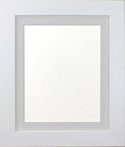 Frames By Post Weiß Foto Bild Poster Rahmen mit hellgrau Halterung, holz, 39mm Frame, 6