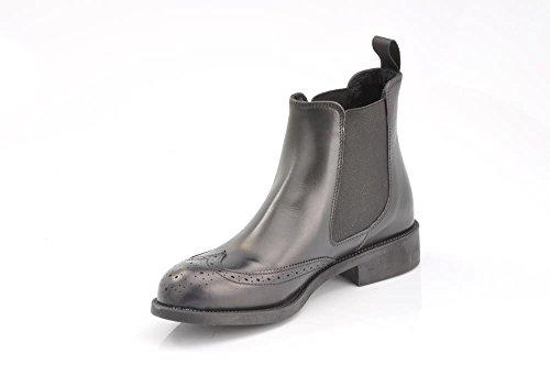 FRAU 98P7 nero scarpe donna stivaletti tronchetti beatles pelle inglese Nero