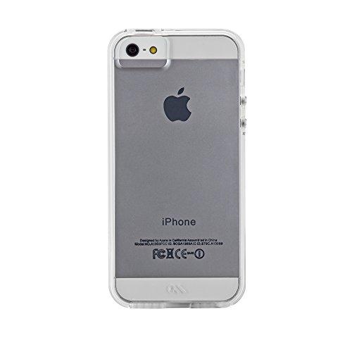 Case-Mate Naked Tough Schutzhülle für Apple iPhone SE/5S/5 in transparent [Extrem robust | Stoßabsorbierend | Hybrid   Tasten in Metall Optik] - CM034262