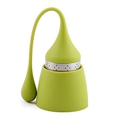 Gogogo Filtre à thé Silicone réutilisable Mignon Une Goutte d'eau thé infuseur Vert
