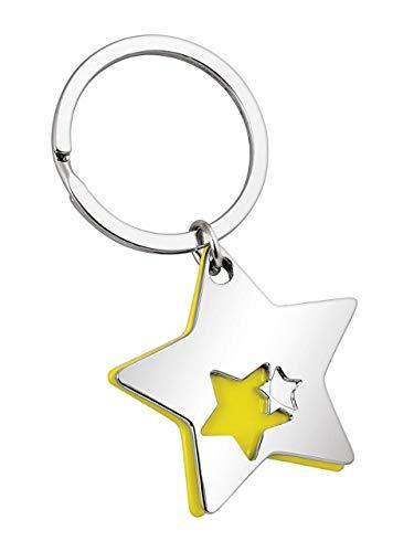 Ten Llavero Doble Estrella Amarillo Acero cod.EL7131