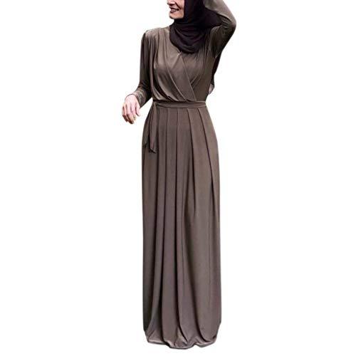 Muslimische Kleider Langes Maxikleid Muslim Robe Kleider Islamische Kleidung Abaya Dubai Kostüm Elegante Muslimischen Kaftan Kleid Frauen Muslims Kleidung (Süßes Flapper Kleider)