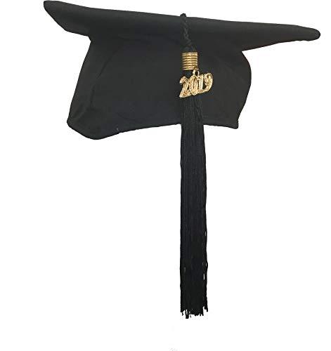 College Einfach Kostüm - KOKOTT Doktorhüte in verschiedenen Ausführungen, Premium- und Einfachmodelle, eigene Produktion (Einfach,2019, Standardgröße)