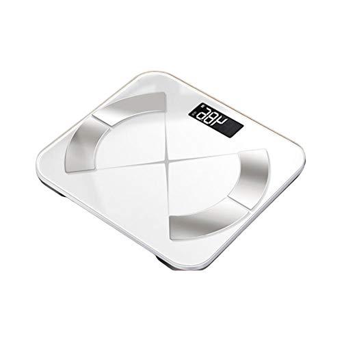ZGY Bluetooth Personenwaage, Body Composition Analyzer für Körperfett, Muskelmasse, BMI, BMR, Etc,Weiß