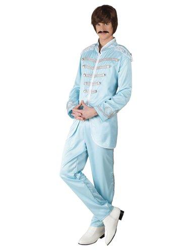 70er Jahre Disco - Star Kostüm für Herren (Berühmte Sänger Kostüme)