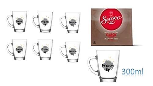 Senseo Kaffeepads Classic für Senseo und weitere Kaffeemaschinen Aktion+ 6 Kaffeebecher mit Henkel 300 ml