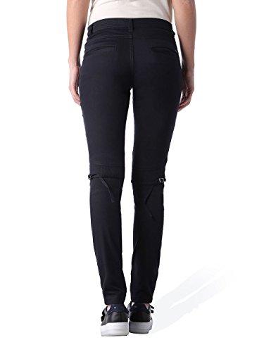 Diesel P-Insul Mesdames Pantalon Stretch Skinny Noir Noir