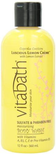Vitabath Lusciuos Bath and Shower Gel, Lemon Crme, 12 Ounce by Vitabath (Vitabath Gelee)